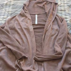 Size 12 women's dusty rose Lululemon cardigan